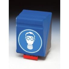 Förvaringslåda för hel- och halvmask, blå