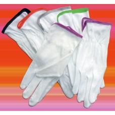 Skyddsvante med PVC noppor, vit