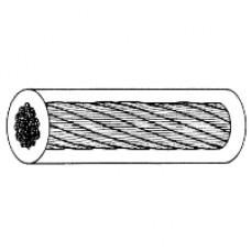 Wire förzinkad med PVC överdrag, 10mtr