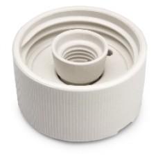 Armatursockel rak Porslin E27