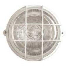 Gallerarmatur rund vit