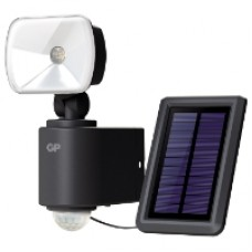 Utebelysning trådlös hybrid 1 lampa, svart