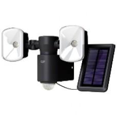 Utebelysning trådlös hybrid 2 lampor, svart
