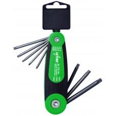 Sexkantnyckelsats HaFu vikbar Torx TX9 - TX40, 8 nycklar