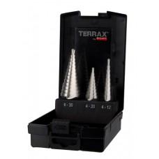 Stegborrsats Terrax i plastkassett 3 delar