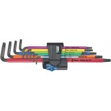 Sexkantnyckelsats Wera 967/9 HF Multicolor XL,  torx