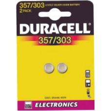 Knappcellsbatterier Duracell 357/SR44H 2 pack