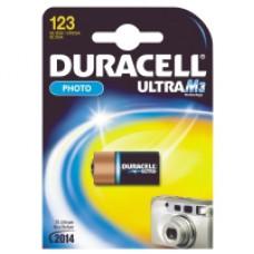 Knappcellsbatterier Duracell Ultra M3 123 1 pack